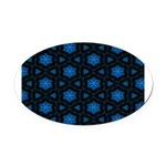 Blue Stars Pattern Oval Car Magnet