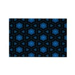 Blue Stars Pattern Rectangle Magnet