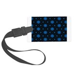 Blue Stars Pattern Large Luggage Tag