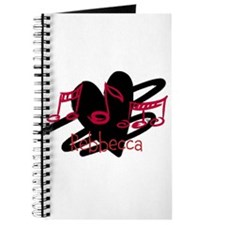 Personalized music and love hearts design Journal