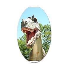 Dinosaur T-Rex 35x21 Oval Wall Decal