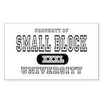 Small Block University Property Sticker (Rectangul