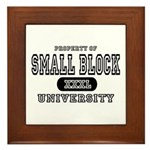 Small Block University Property Framed Tile