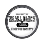 Small Block University Property Wall Clock