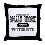Small Block University Property Throw Pillow