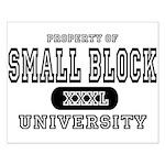 Small Block University Property Small Poster