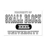 Small Block University Property Mini Poster Print