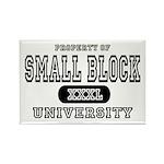 Small Block University Property Rectangle Magnet