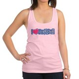 I Love Softball Racerback Tank Top