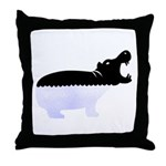 Half A Hippo Throw Pillow