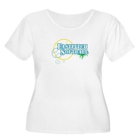 Fastpitch Softball Women's Plus Size Scoop Neck T-