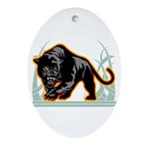 Black Panther Oval Ornament