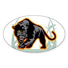 Black Panther Oval Sticker
