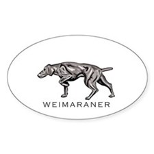 Wiemaraner Oval Decal
