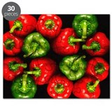 Red and green peppers - Puzzle