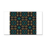 Green and Gold Pattern Rectangle Car Magnet