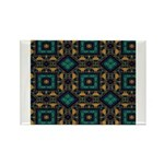 Green and Gold Pattern Rectangle Magnet (10 pack)