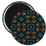 Green and Gold Pattern Magnet