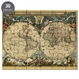 17th century world map - Puzzle