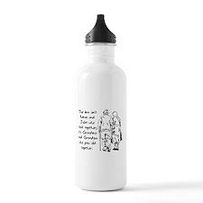 True Love Grows Romantic Graphic Water Bottle