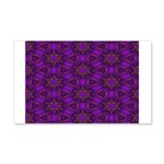 Purple and gold Stars Shower Curtain 20x12 Wall De