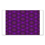Purple and gold Stars Shower Curtain Sticker (Rect