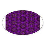 Purple and gold Stars Shower Curtain Sticker (Oval