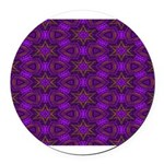 Purple and gold Stars Shower Curtain Round Car Mag