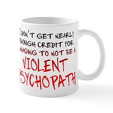 Psychopath Credit Funny T-Shirt Small Mug