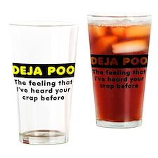Deja Poo Funny T-Shirt Drinking Glass
