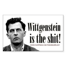 Wittgenstein is the Shit.jpg Decal
