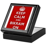 Keep Calm and Bikram On Keepsake Box