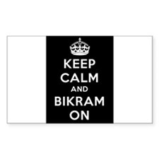 Keep Calm and Bikram On Decal