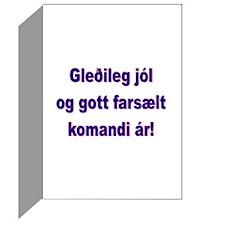 Package of six Gledileg Jól... Cards