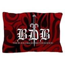 BDB Dagger Logo Red Pillowcase
