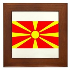 Macedonia Macedonian Flag Framed Tile