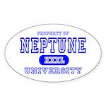 Neptune University Property Oval Sticker