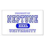 Neptune University Property Rectangle Sticker