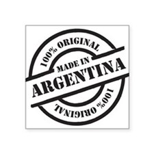 "Made in Argentina Square Sticker 3"" x 3"""