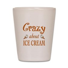 Crazy About Ice Cream Shot Glass