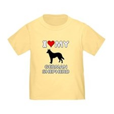 I Love My German Shepherd Gift T