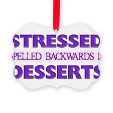 Cute Stressed spelled backwards Ornament