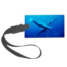 Humpback whale mother and calf - Luggage Tag