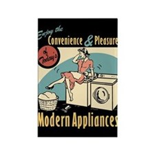 Retro Modern Appliances Rectangle Magnet
