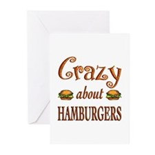 Crazy About Hamburgers Greeting Cards (Pk of 20)