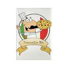 Italian Pizza Chef Rectangle Magnet