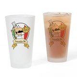 Italian Pizza Chef Drinking Glass