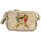 Italian Pizza Chef Messenger Bag