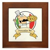 Italian Pizza Chef Framed Tile