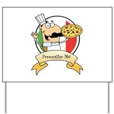 Italian Pizza Chef Yard Sign